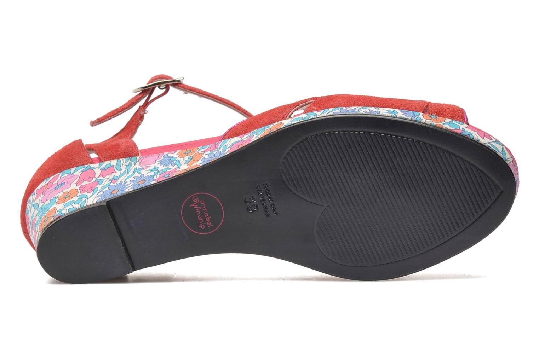 Sandales et nu-pieds Annabel Winship Loukoum Rouge vue haut