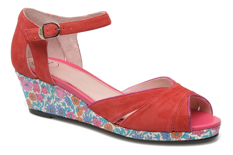 Sandales et nu-pieds Annabel Winship Loukoum Rouge vue détail/paire