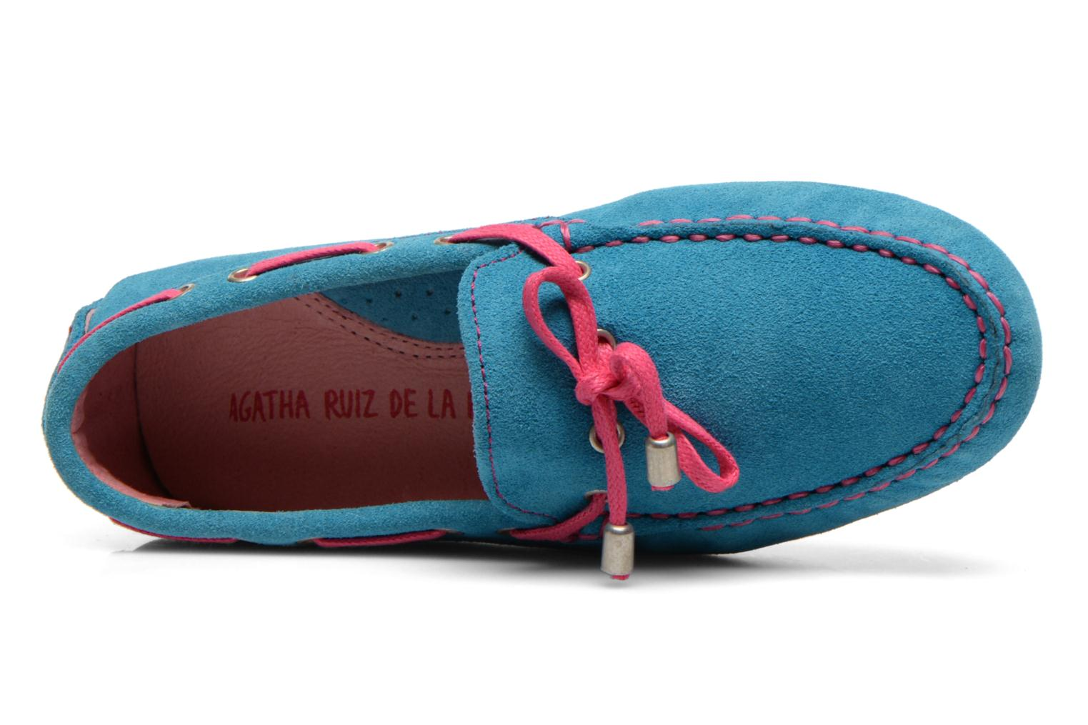 Loafers Agatha Ruiz de la Prada Catherine Blue view from the left