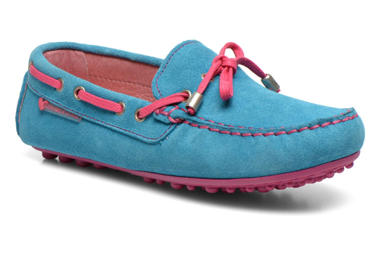 Loafers Agatha Ruiz de la Prada Catherine Blue detailed view/ Pair view