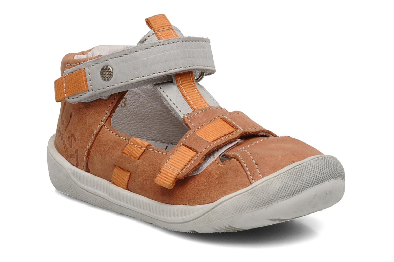 Sommersko Babybotte Stylist Orange detaljeret billede af skoene