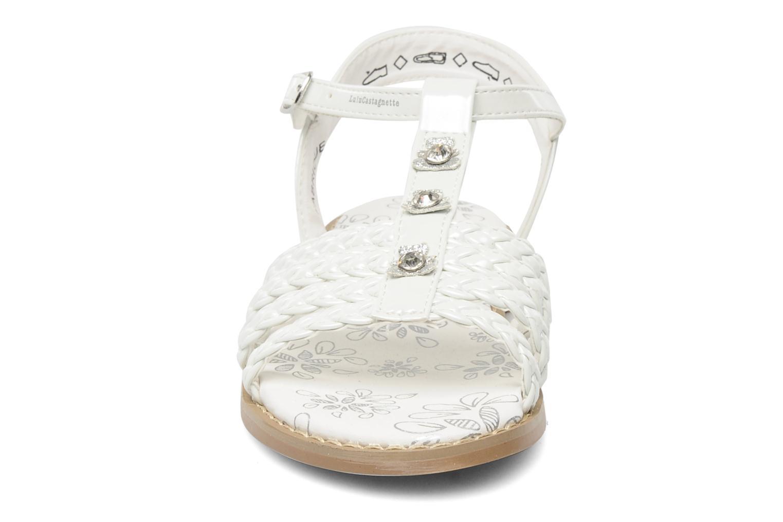 Sandales et nu-pieds Lulu Castagnette Lc Mafalda Blanc vue portées chaussures