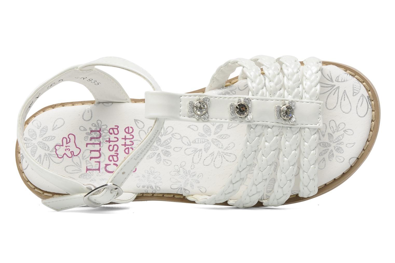 Sandales et nu-pieds Lulu Castagnette Lc Mafalda Blanc vue gauche