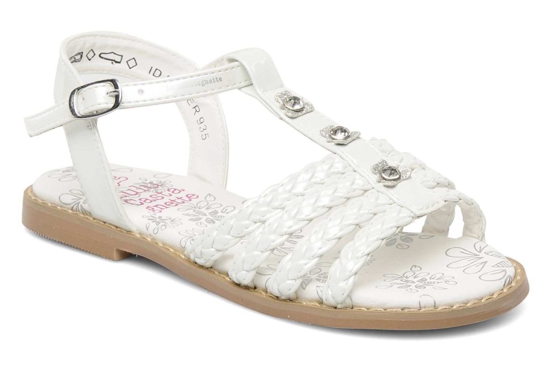 Sandales et nu-pieds Lulu Castagnette Lc Mafalda Blanc vue détail/paire