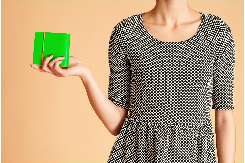 Kleine lederwaren Coverlab Man wallet Groen boven