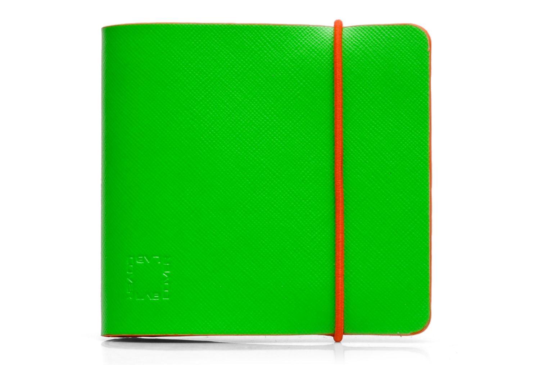 Kleine lederwaren Coverlab Man wallet Groen detail
