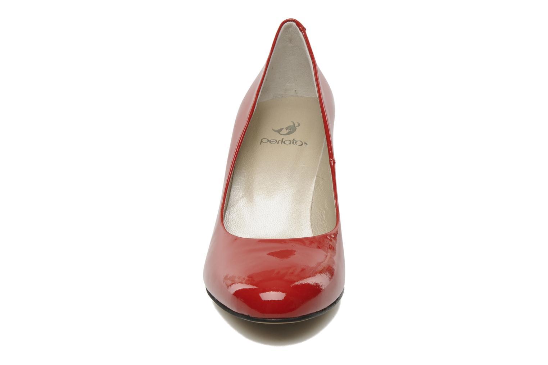 Escarpins Perlato Paty Rouge vue portées chaussures