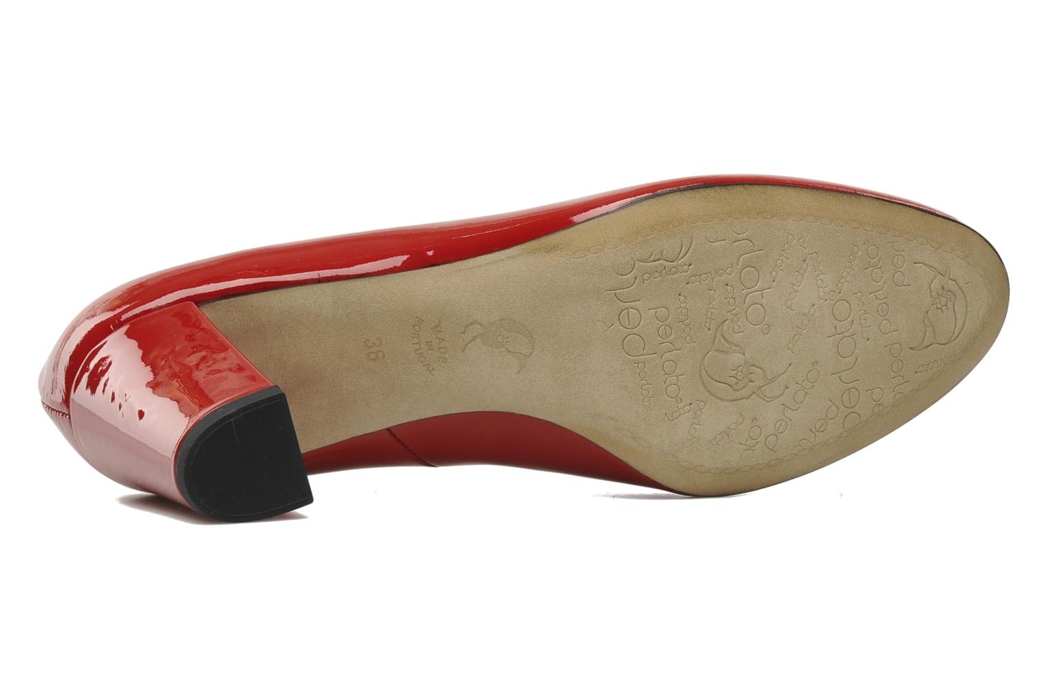 High heels Perlato Paty Red view from above