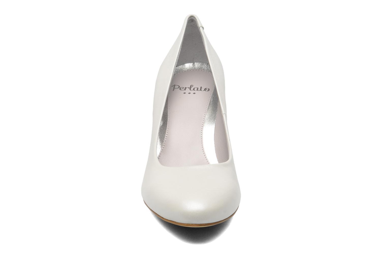 Escarpins Perlato Paty Blanc vue portées chaussures
