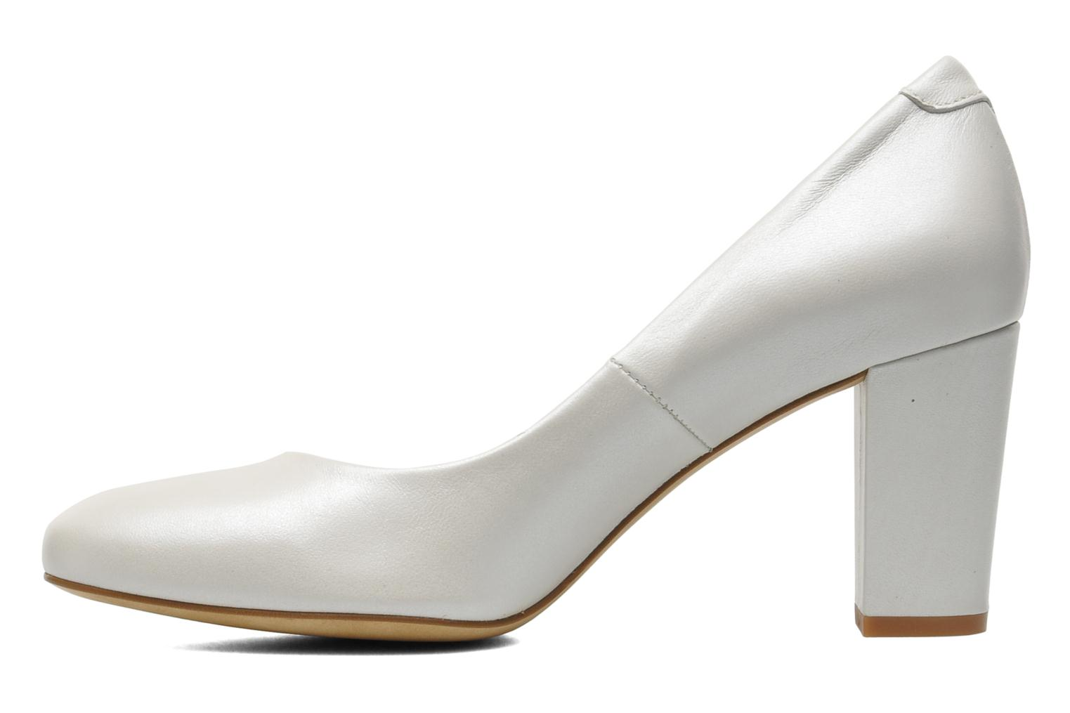 High heels Perlato Paty White front view