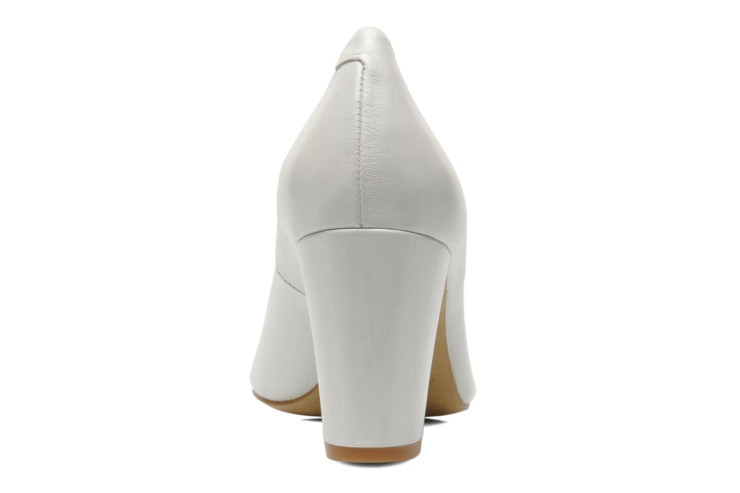 High heels Perlato Paty White view from the right