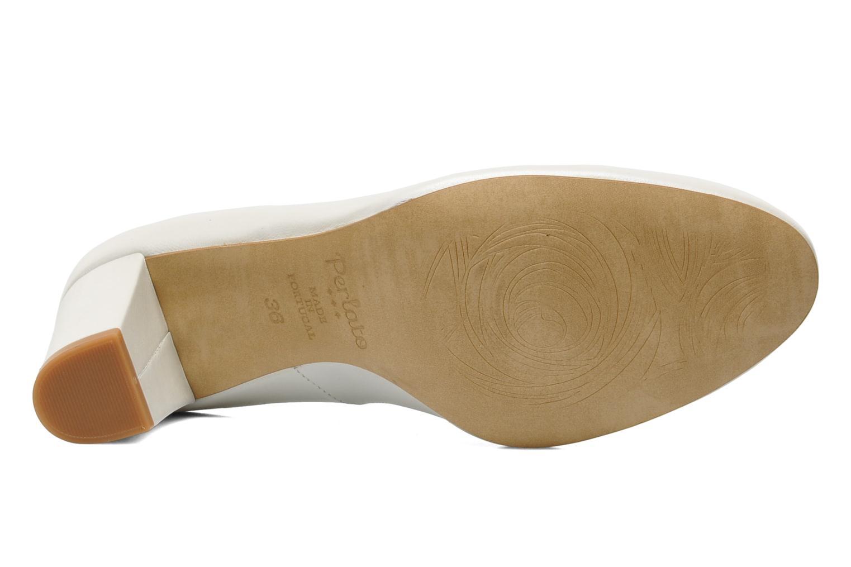 Escarpins Perlato Paty Blanc vue haut
