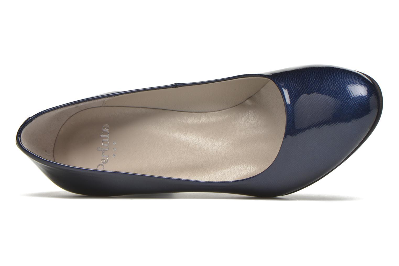 Zapatos de tacón Perlato Paty Azul vista lateral izquierda