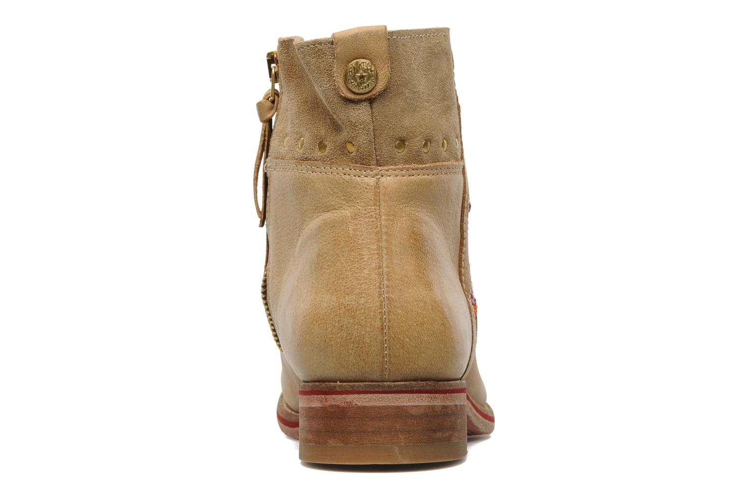 Ankle boots Koah Noor Beige view from the right