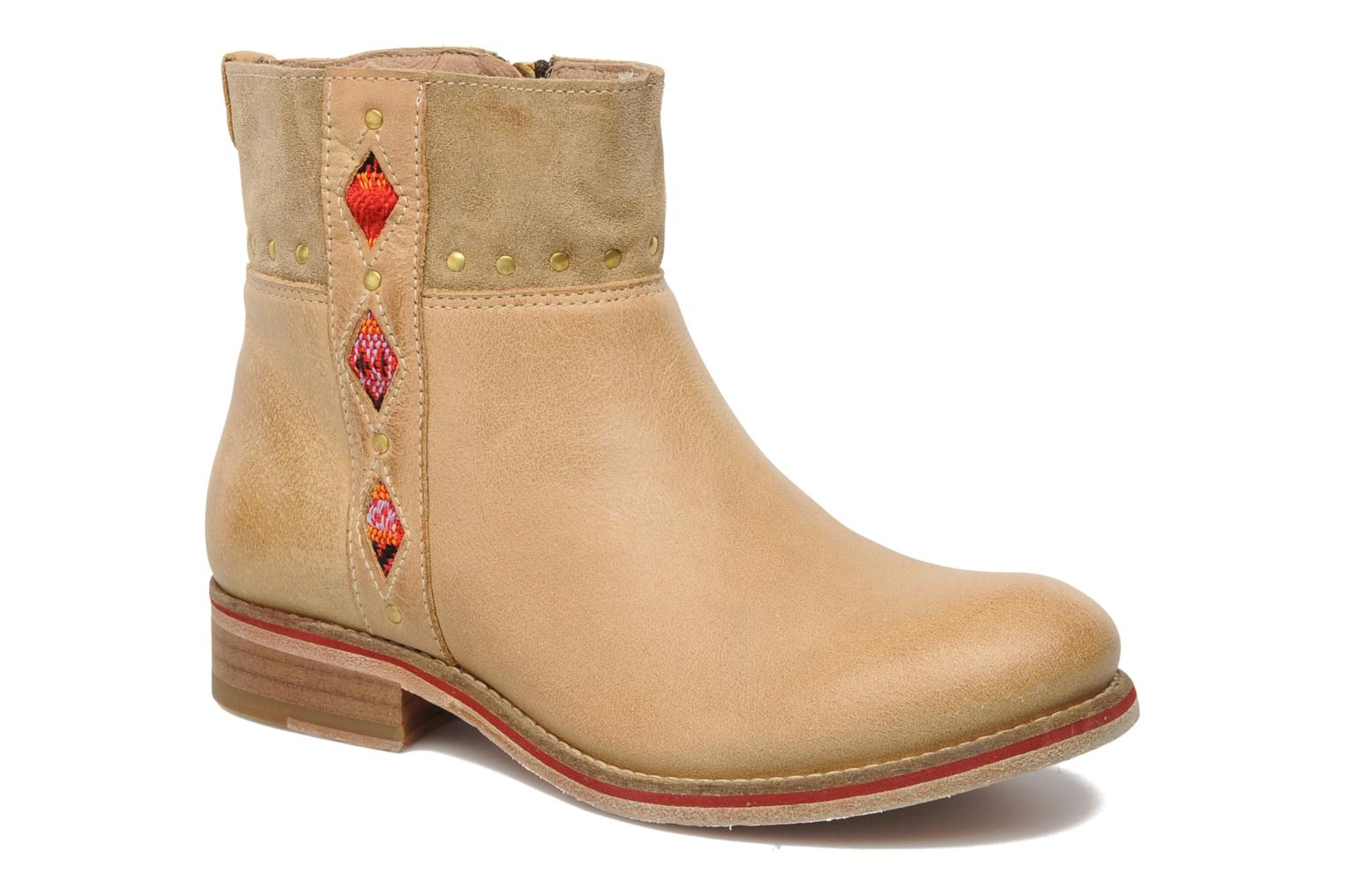 Ankle boots Koah Noor Beige detailed view/ Pair view