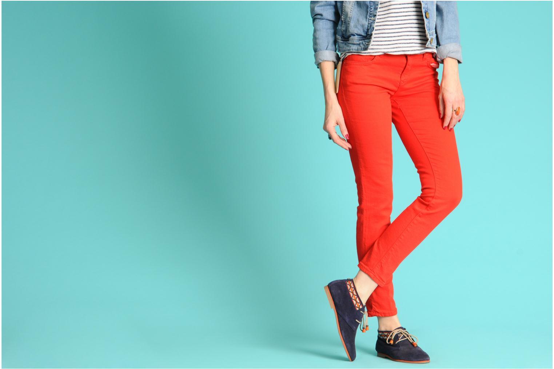 Chaussures à lacets Koah Yosra Orange vue bas / vue portée sac
