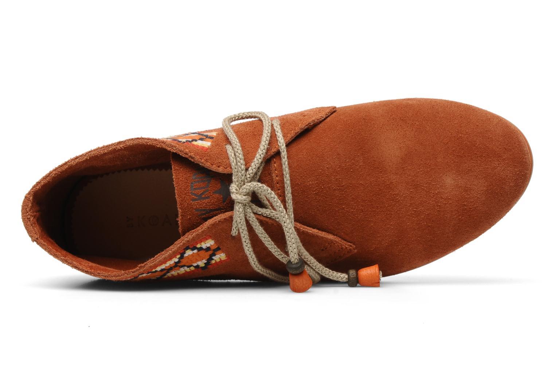 Chaussures à lacets Koah Yosra Orange vue gauche
