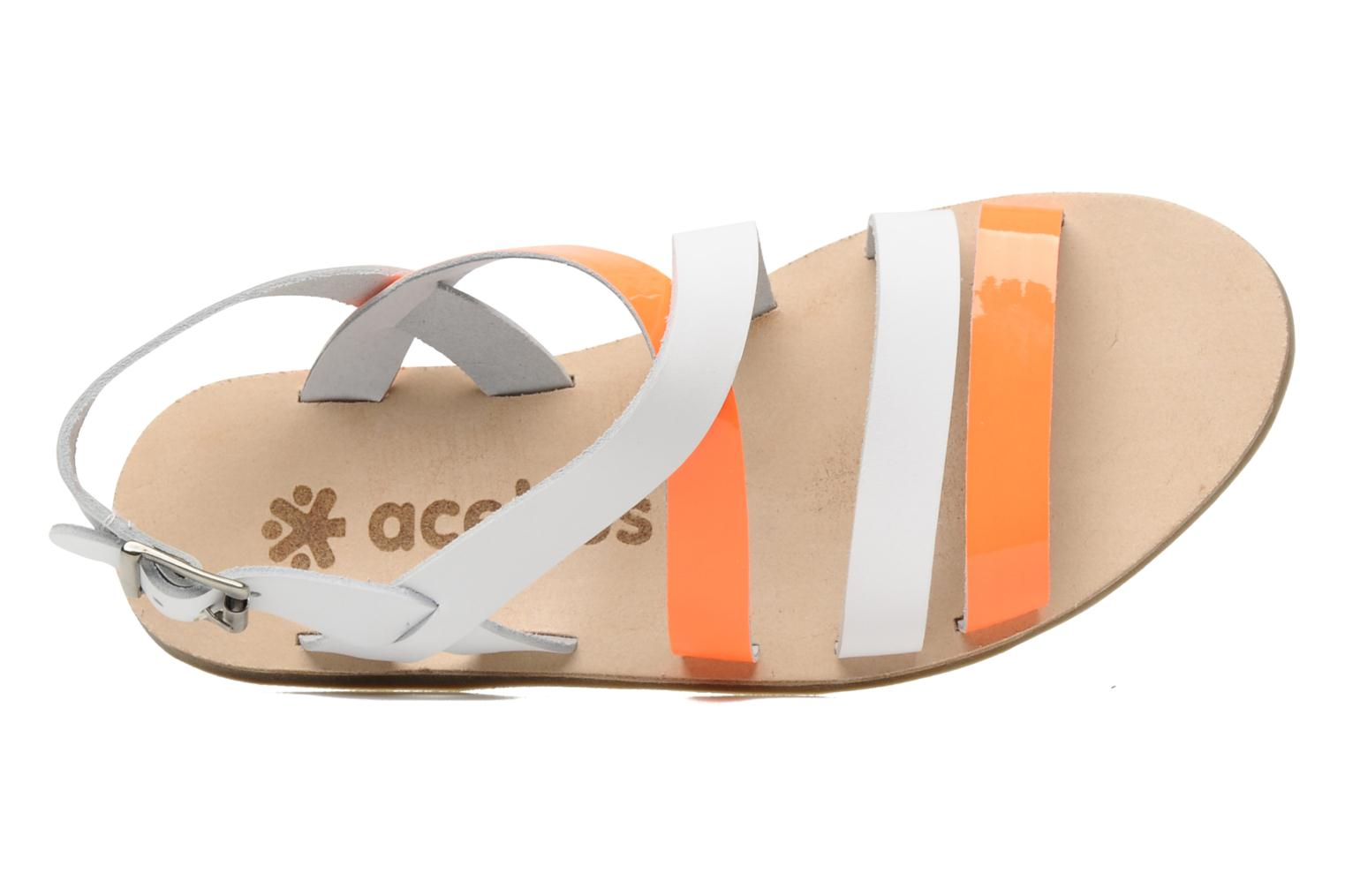 Sandals Acebo's Aurore Orange view from the left