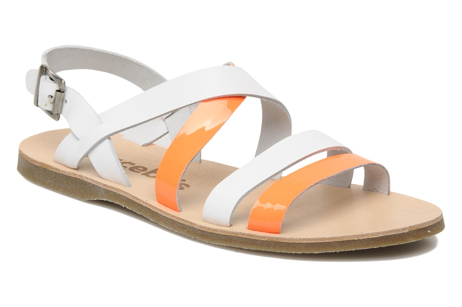 Sandals Acebo's Aurore Orange detailed view/ Pair view