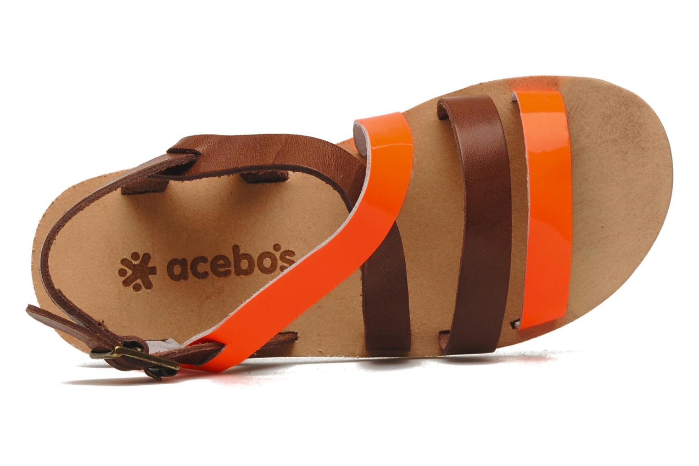 Sandalen Acebo's Alice orange ansicht von links