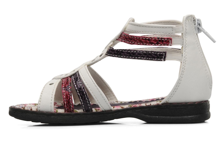 Sandales et nu-pieds I Love Shoes Jicole Blanc vue face