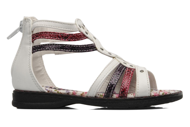 Sandales et nu-pieds I Love Shoes Jicole Blanc vue derrière