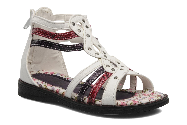 Sandales et nu-pieds I Love Shoes Jicole Blanc vue détail/paire
