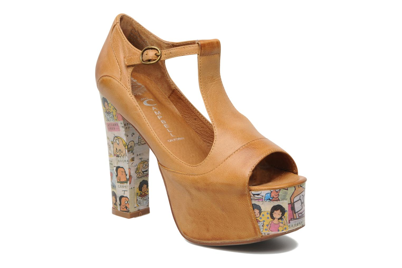 Sandalen Jeffrey Campbell Foxy - Cartoon Heel Bruin detail