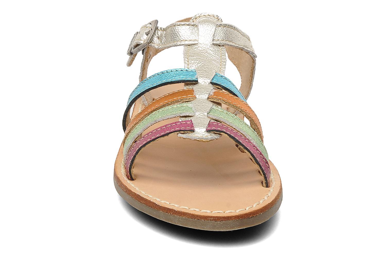 Sandalen Minibel Chana silber schuhe getragen