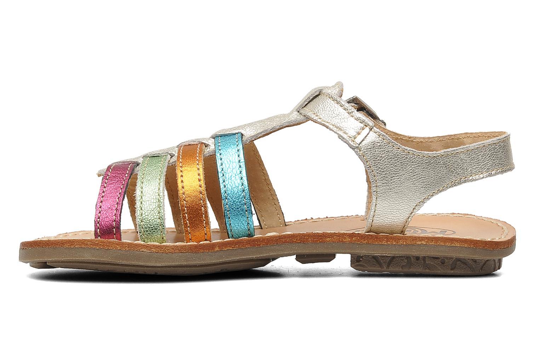 Sandalen Minibel Chana silber ansicht von vorne