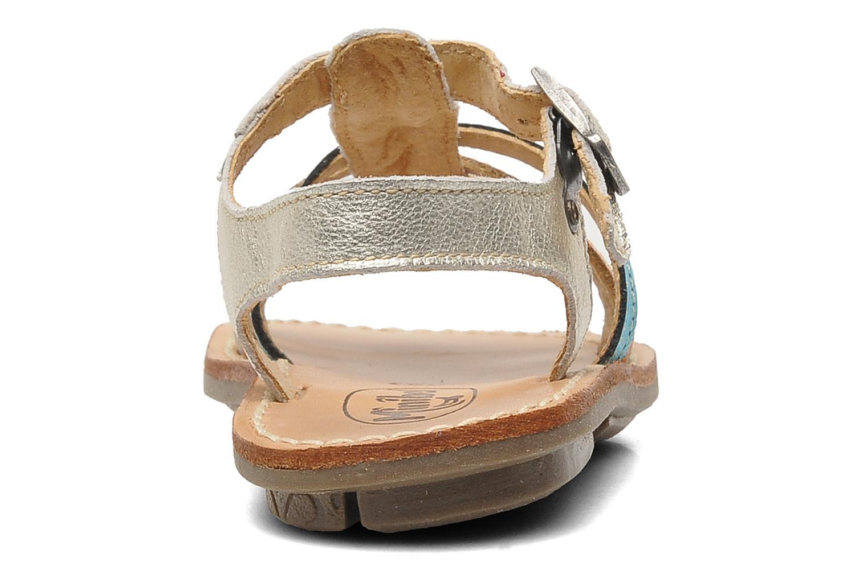 Sandalen Minibel Chana silber ansicht von rechts