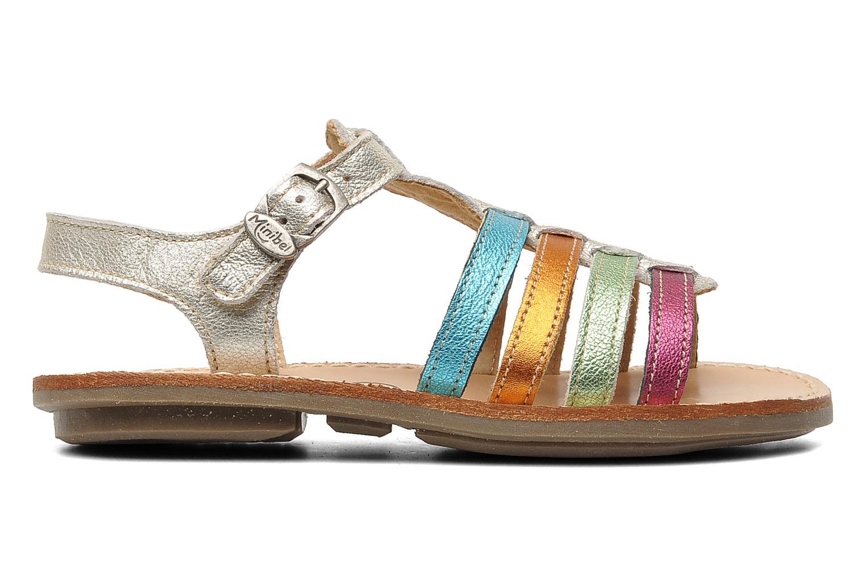 Sandalen Minibel Chana silber ansicht von hinten