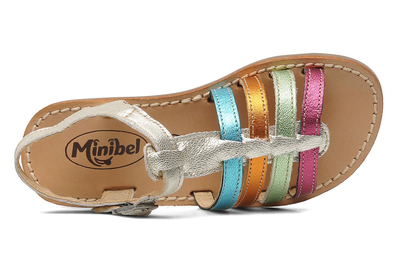 Sandalen Minibel Chana silber ansicht von links