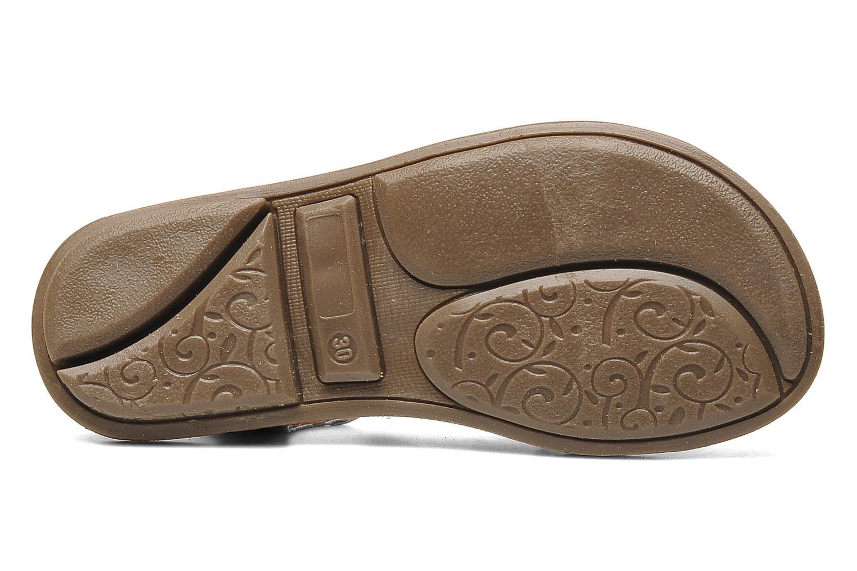 Sandalen Minibel Chana silber ansicht von oben