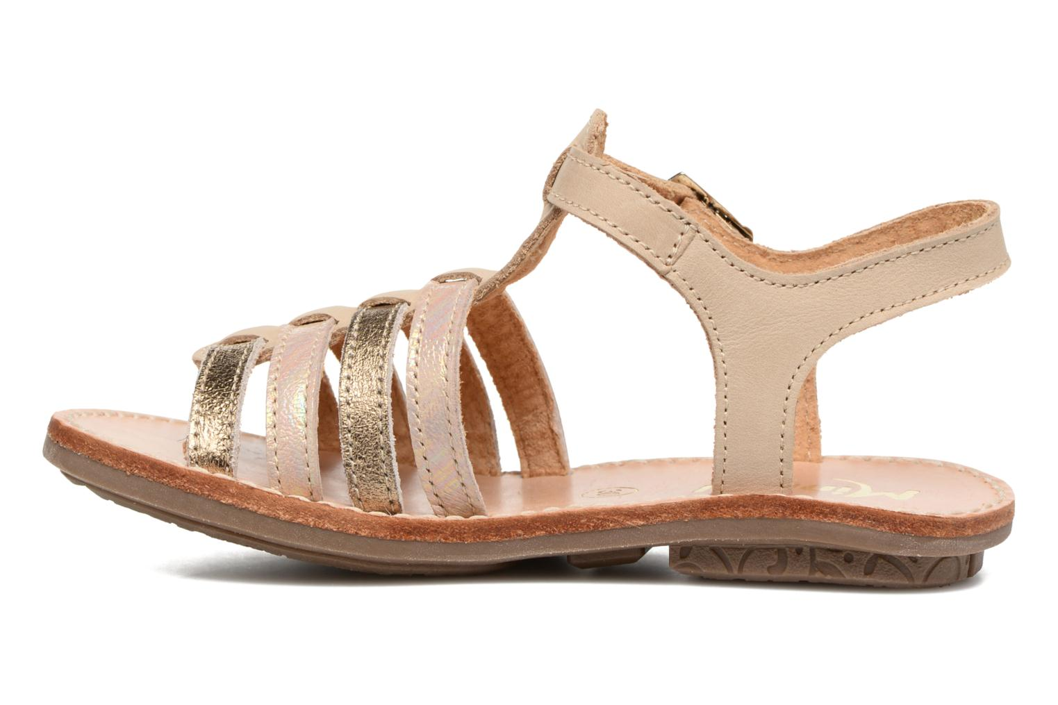 Sandals Minibel Chana Bronze and Gold front view