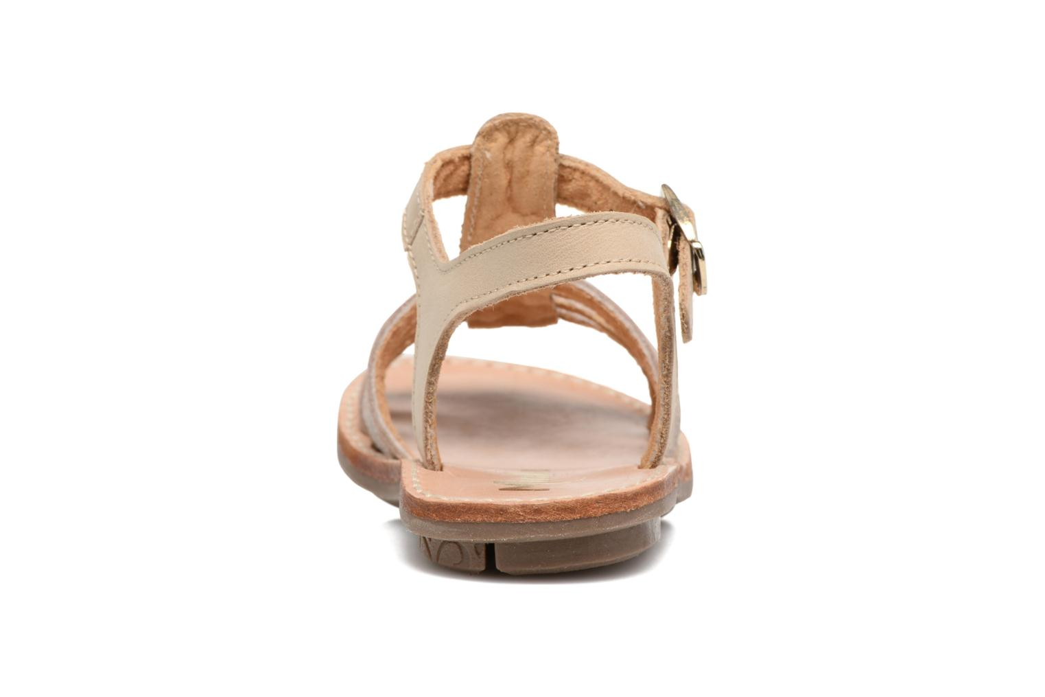 Sandals Minibel Chana Bronze and Gold view from the right
