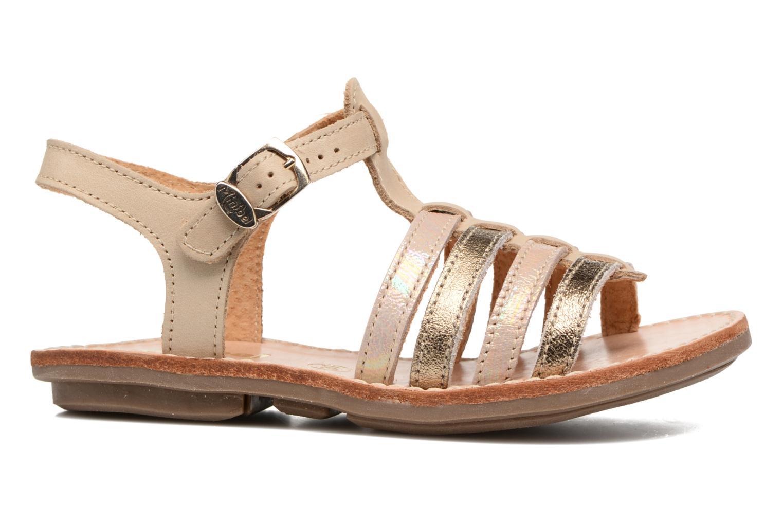 Sandals Minibel Chana Bronze and Gold back view