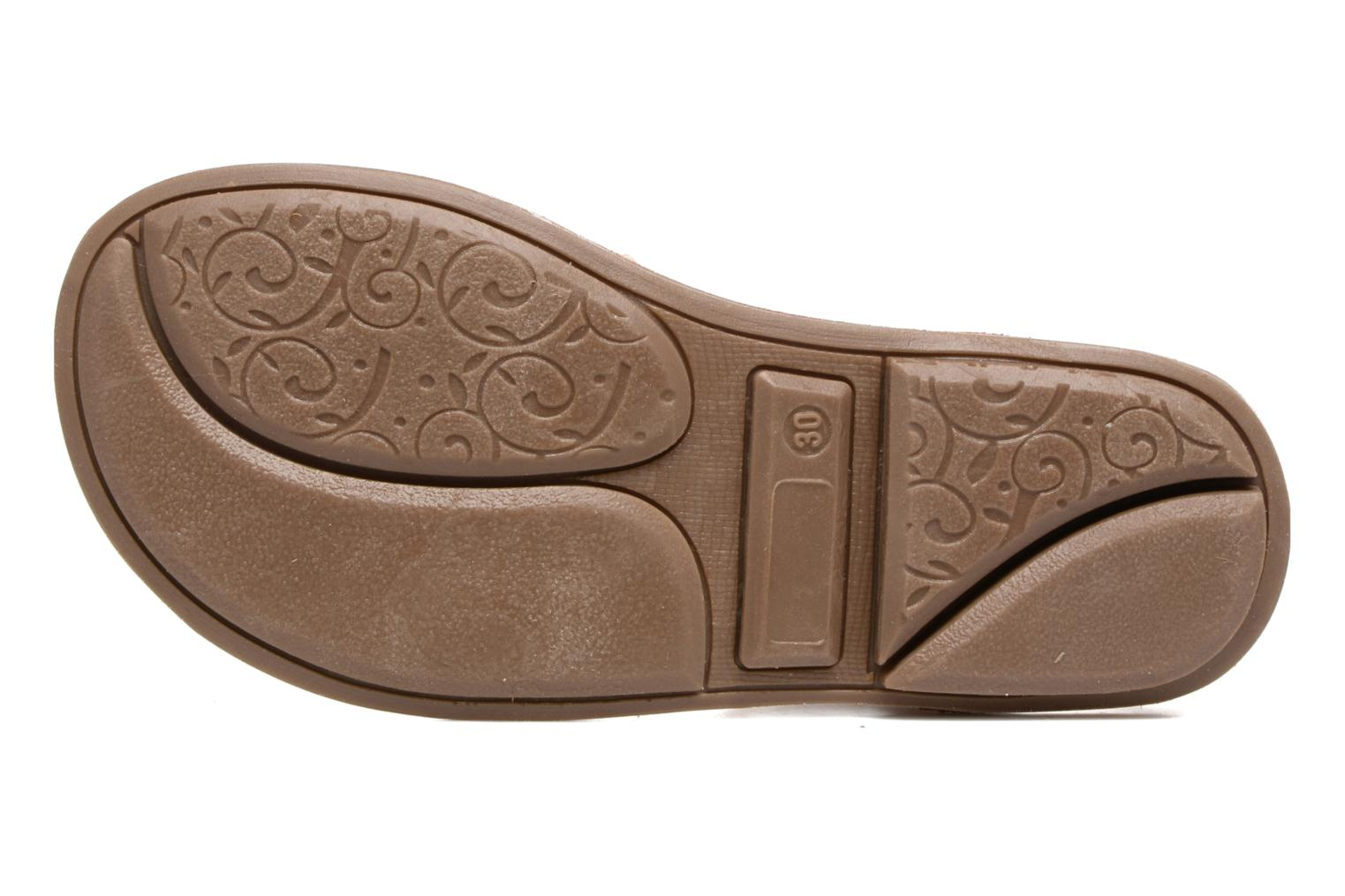 Sandals Minibel Chana Bronze and Gold view from above