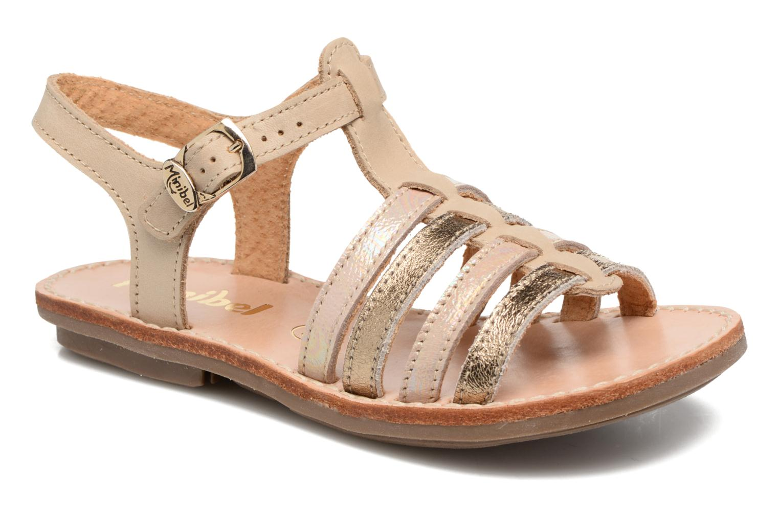 Sandals Minibel Chana Bronze and Gold detailed view/ Pair view