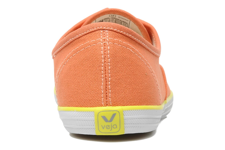 Sneaker Veja Derby W orange ansicht von rechts
