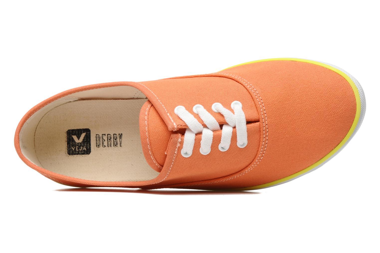 Sneaker Veja Derby W orange ansicht von links