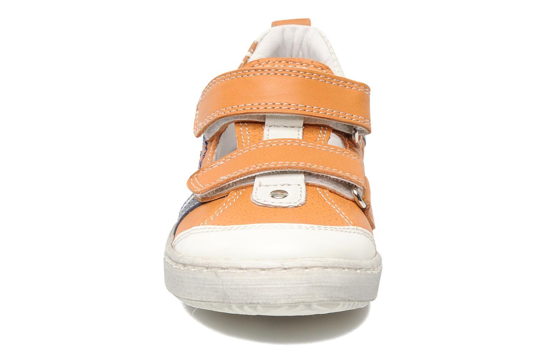 Baskets Romagnoli Nathanael Orange vue portées chaussures