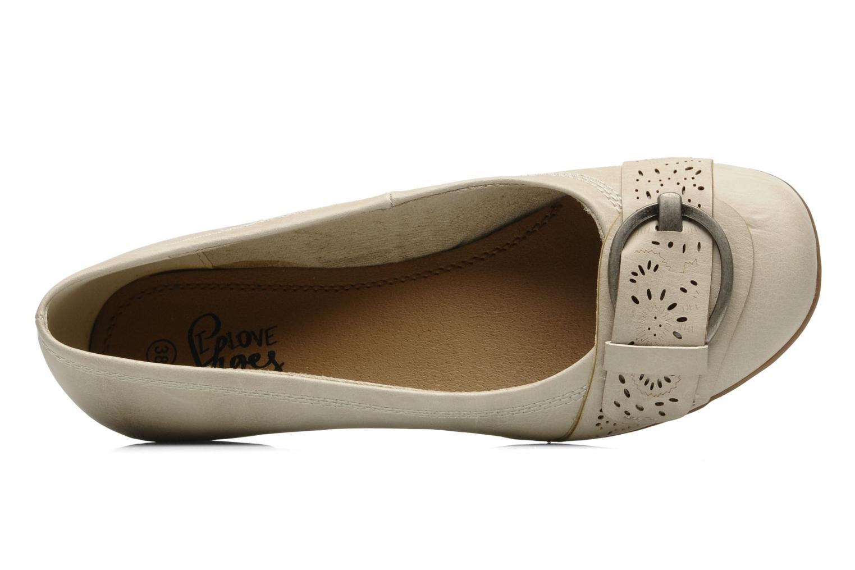 Ballerines I Love Shoes Suzette Beige vue gauche