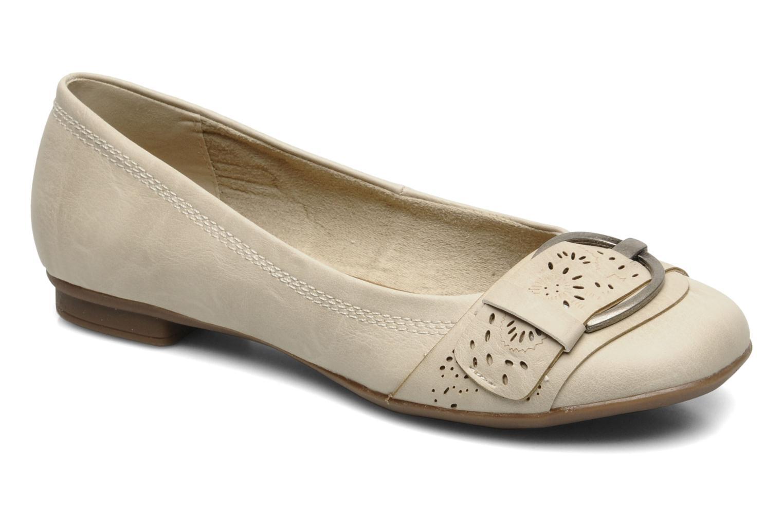 Ballerines I Love Shoes Suzette Beige vue détail/paire
