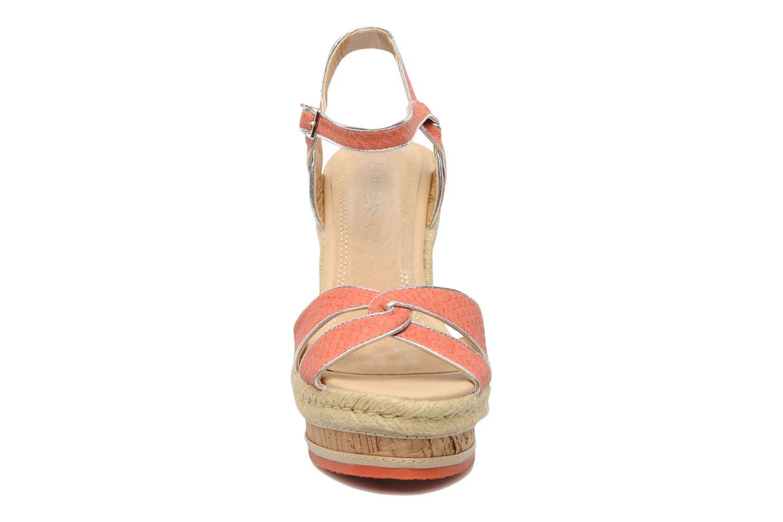 Sandales et nu-pieds Latinas Cloti Orange vue portées chaussures