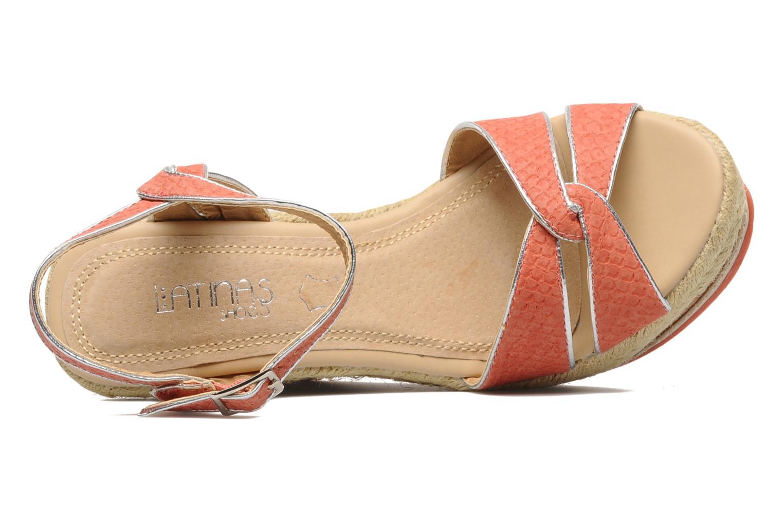 Sandales et nu-pieds Latinas Cloti Orange vue gauche