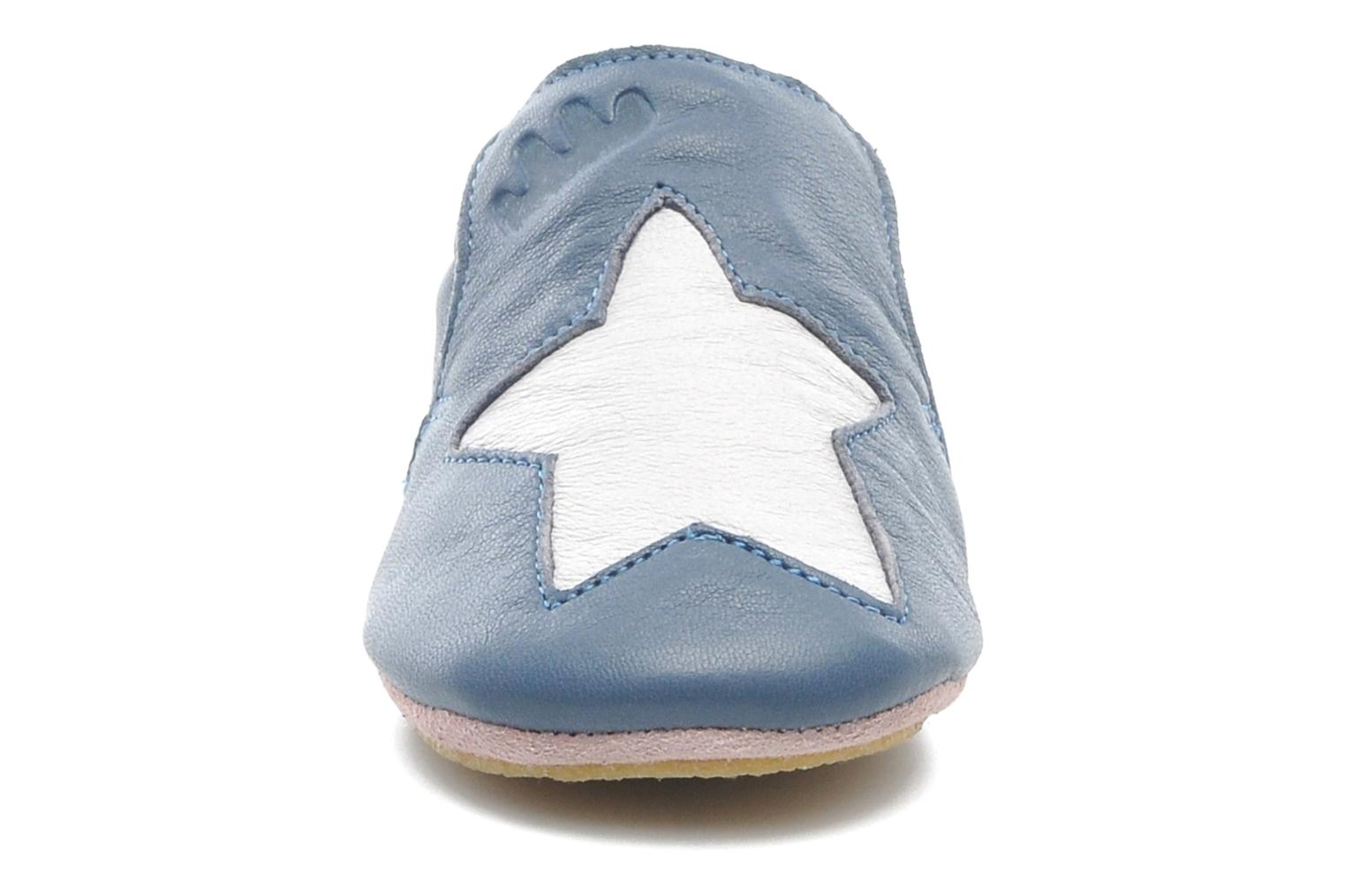 Chaussons Easy Peasy Blublu Patin Etoile Bleu vue portées chaussures