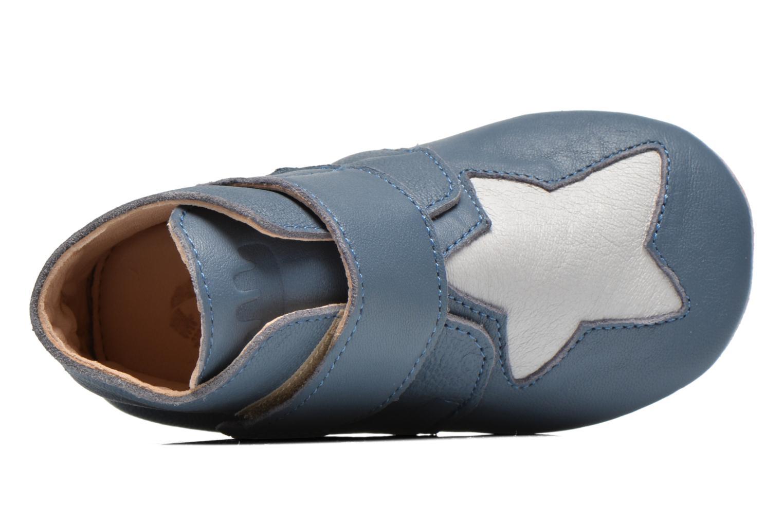 Chaussons Easy Peasy Kiny Patin Etoile Bleu vue gauche