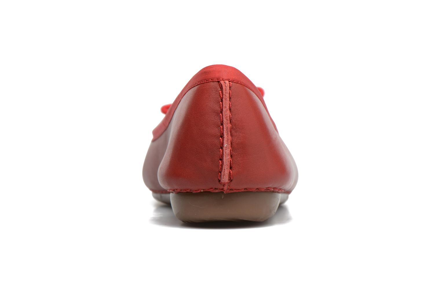 Ballet pumps Clarks Unstructured Freckle Ice Red view from the right
