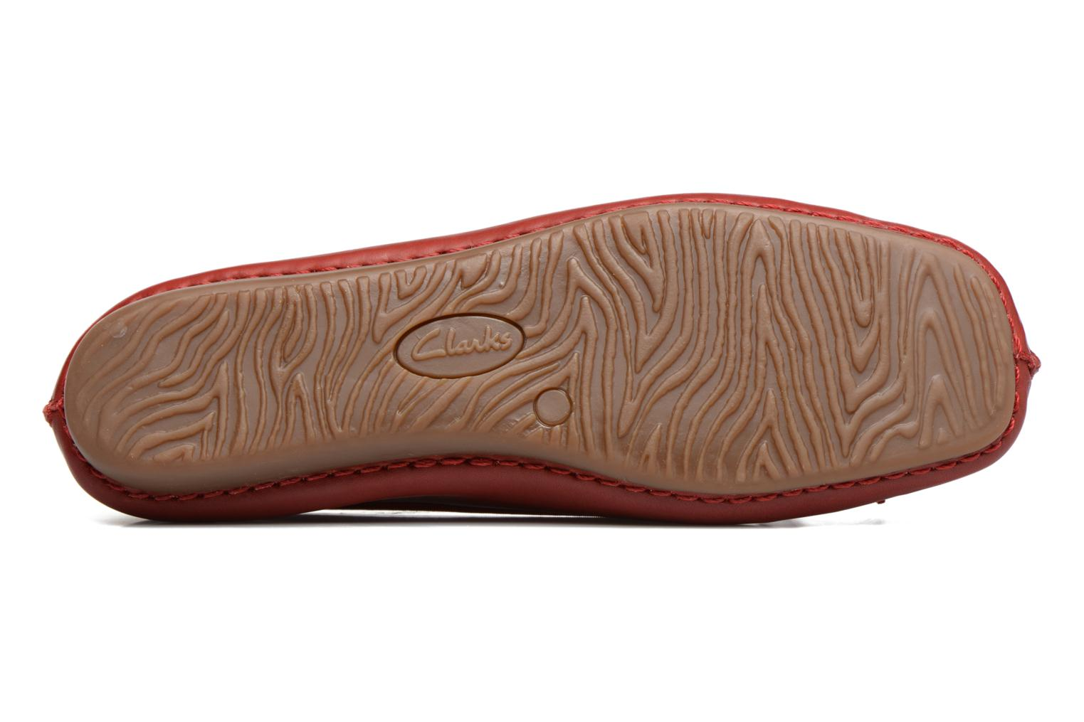 Ballet pumps Clarks Unstructured Freckle Ice Red view from above